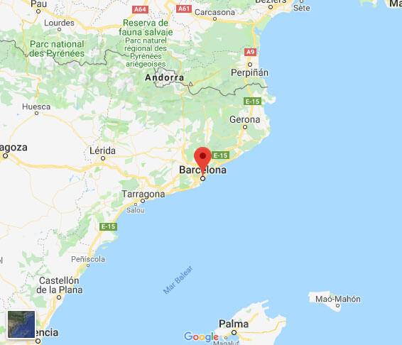 Barcelona Soccer Tours Map