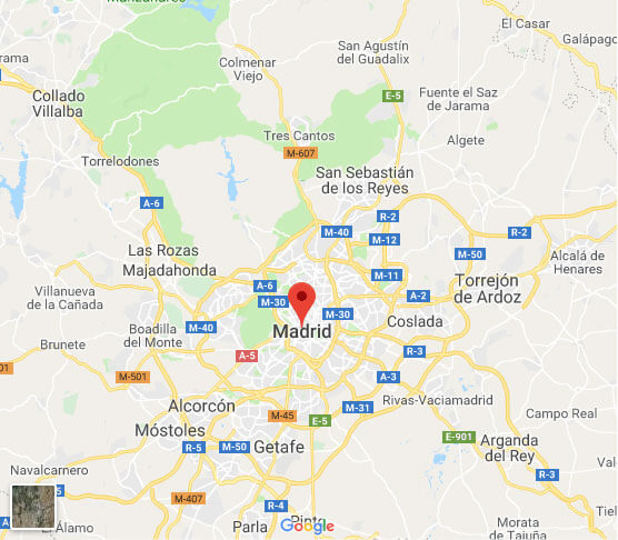 Madrid Soccer Tours Spain Map