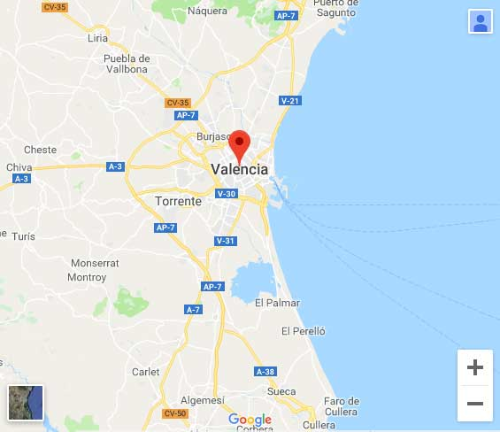 Map Valencia Soccer Tour